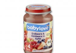A dm visszahívja babylove bio eper-málna-alma gyümölcsös bébiételét