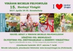 Virágos biciklis felvonulás a Herényi Virágúton