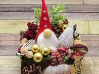 Karácsonyi asztaldíszkészítés és ajándék-csomagolás - Online kézműves bemutató